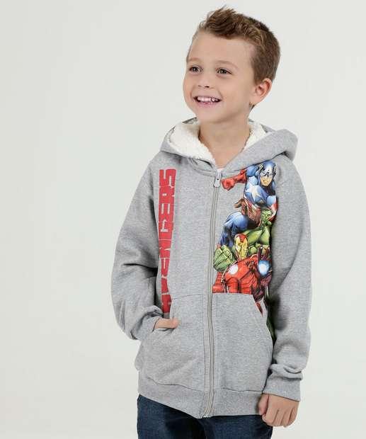 Image_Casaco Infantil Capuz Estampa Vingadores Marvel