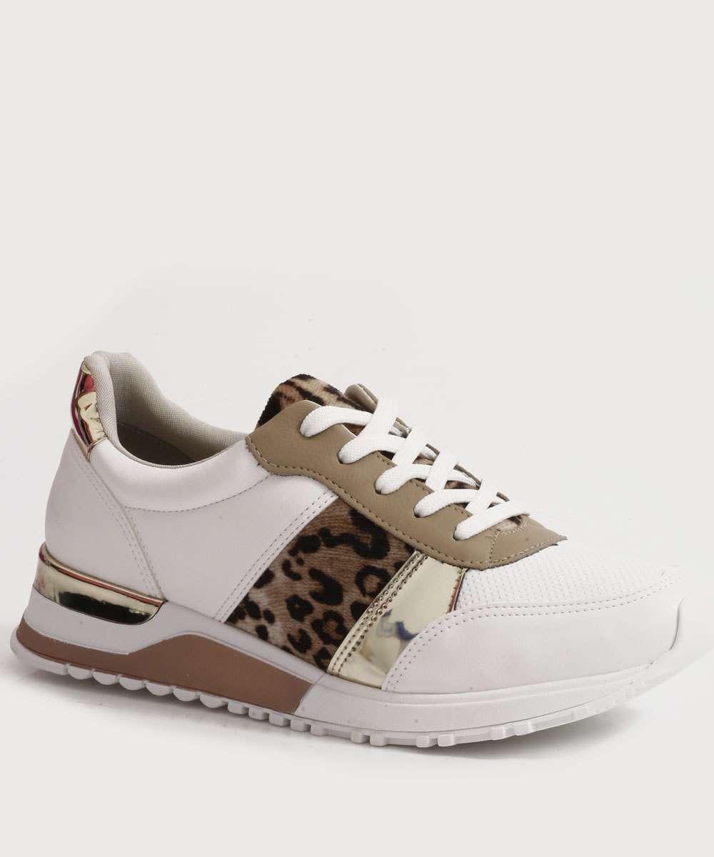 Tênis Feminino Sneaker Estampa Animal Print Via Marte