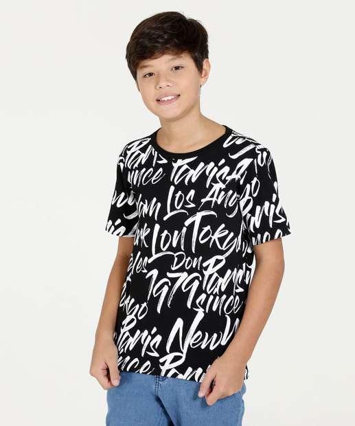 Image_Camiseta Juvenil Estampa Cidades Manga Curta Marisa