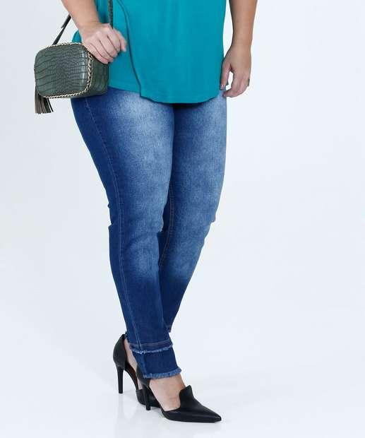 Image_Calça Feminina Jeans Skinny Stretch Plus Size Mix Jeans