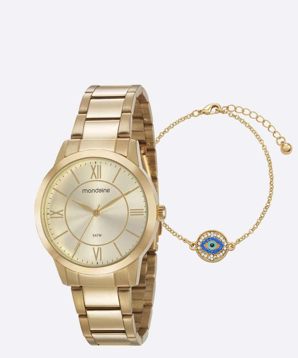 Kit Relógio Feminino Mondaine 53698LPMGDE1