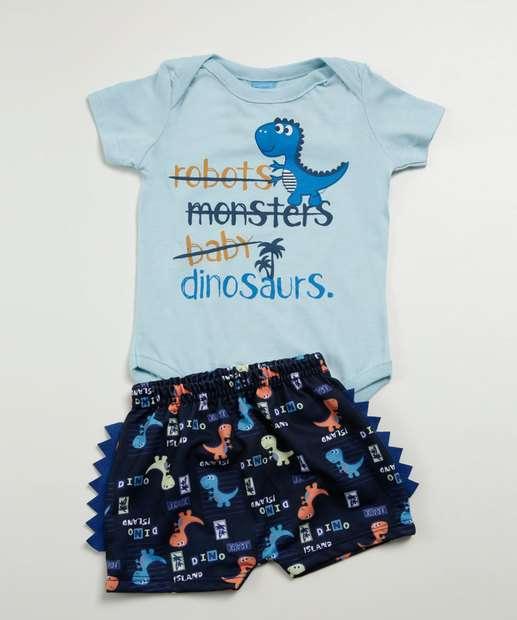 Image_Conjunto Infantil Estampa Dinossauro Manga Curta Lecimar