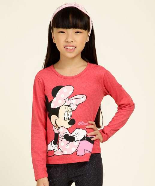 Image_Blusa Infantil Manga Longa Estampa Minnie Disney Tam 4 a 10