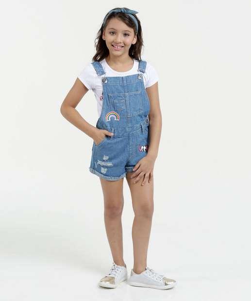 Image_Jardineira Infantil Jeans Puídos Marisa