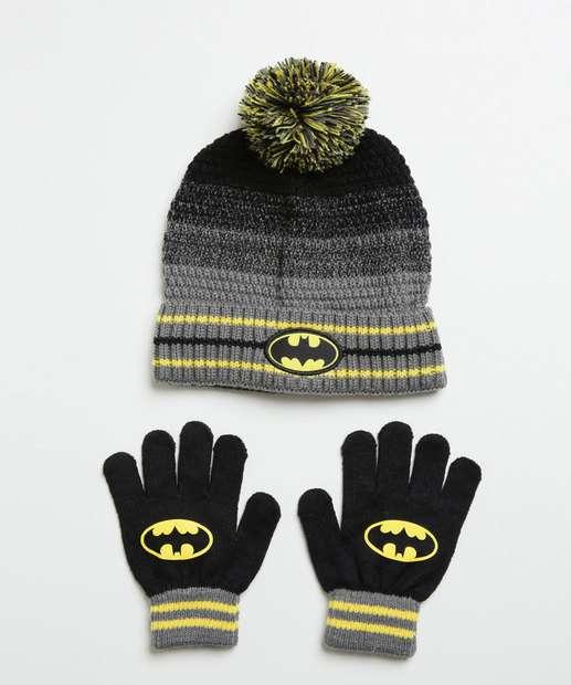 Image_Kit Touca Luvas Estampa Batman Liga da Justiça