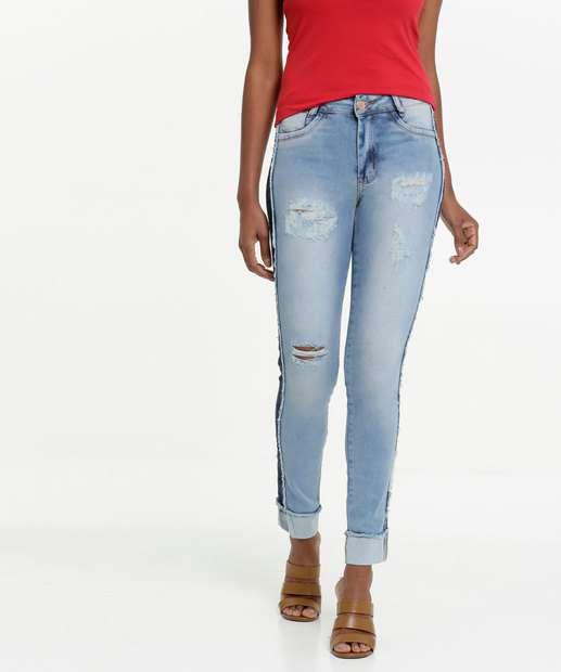 Image_Calça Jeans Destroyed Stretch Skinny Feminina