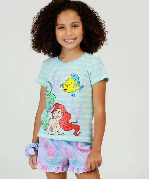 Image_Pijama Infantil Manga Curta Princesa Ariel Disney Tam 2 a 10