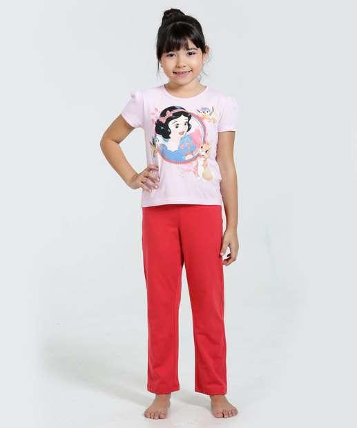 Image_Pijama Infantil Branca de Neve Manga Curta Disney