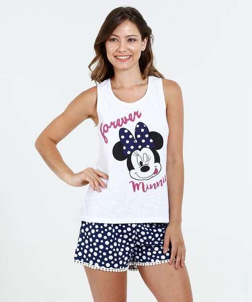 Image_Pijama Feminino Estampa Minnie Disney