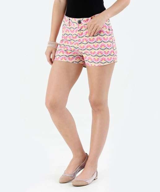 Image_Short Feminino Estampa Floral Hot Pants Marisa