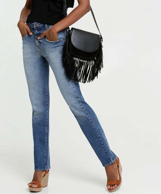 Image_Calça Jeans Boot Cut Feminina Bolsos Marisa