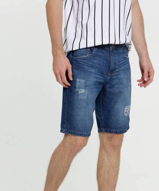 Image_Bermuda Masculina Jeans Destroyed