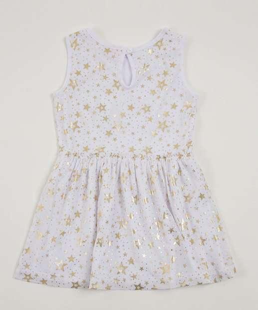 Image_Vestido Infantil Estrelas Foil Sem Manga Marisa