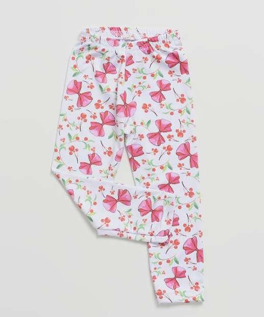 Image_Calça Infantil Legging Estampa Laços Tam 1 a 3