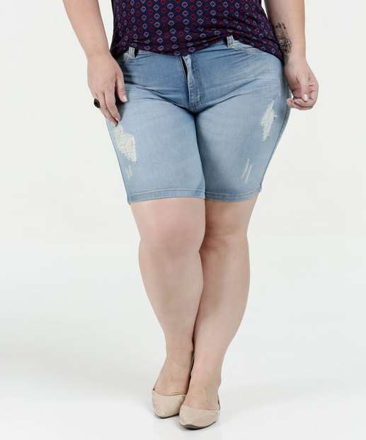 Image_Bermuda Feminina Jeans Puídos Plus Size Biotipo