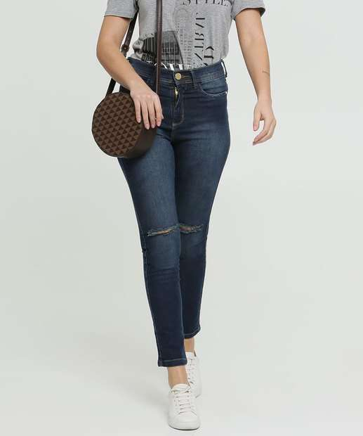 Image_Calça Cigarrete Feminina Destroyed Zune Jeans