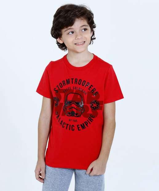 Image_Camiseta Infantil Stormtrooper Star Wars Manga Curta Disney