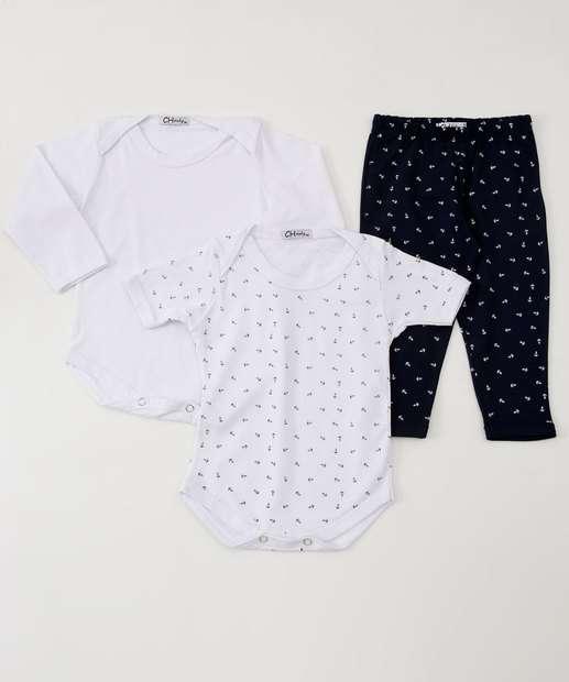 Image_Kit Body Calça Infantil Estampa Âncoras