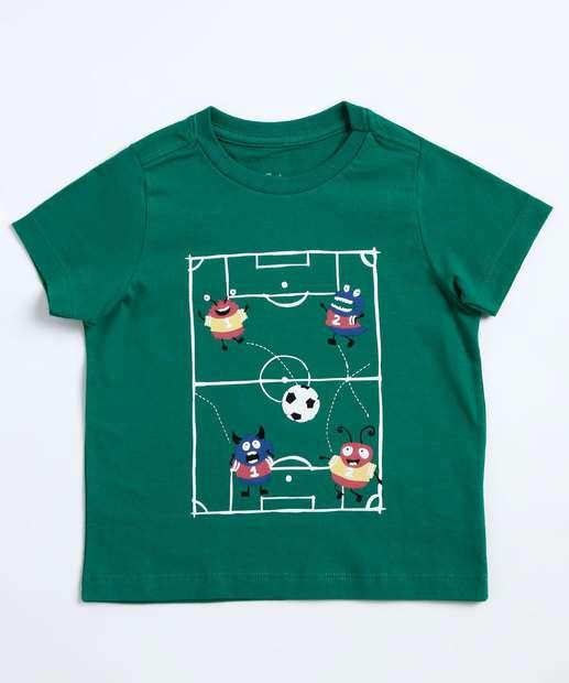 Image_Camiseta Infantil Estampada Manga Curta Marisa