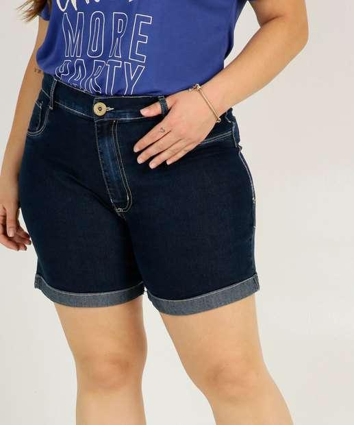 Image_Short Plus Size Feminino Jeans Barra Dobrada Razon