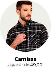 Camisas a partir de R$49,99