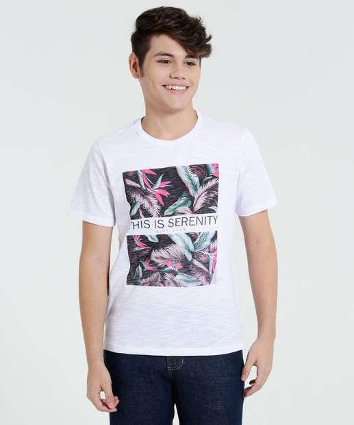 Image_Camiseta Juvenil Manga Curta Folhas Marisa