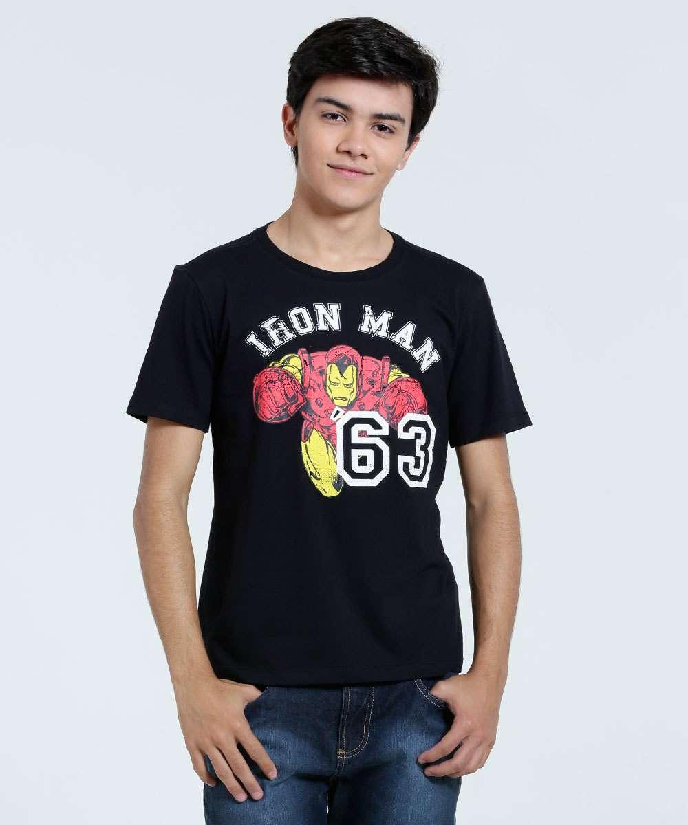 Image_Camiseta Infantil Estampa Homem de Ferro Marvel