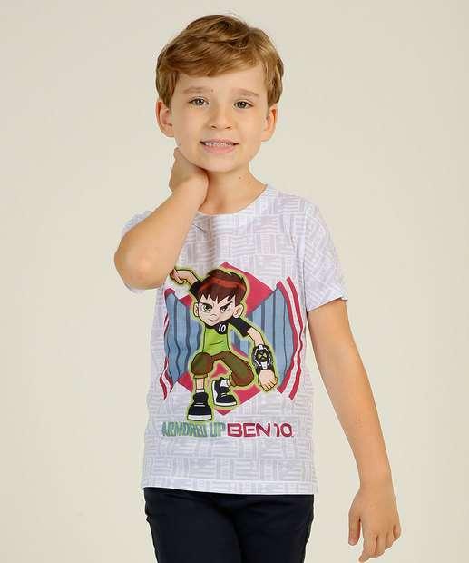 Image_Camiseta Infantil Manga Curta Ben 10 Warner Bros Tam 4 a 10