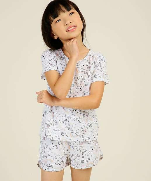 Image_Pijama Infantil Estampa Unicórnio Marisa Tam 4 ao 12