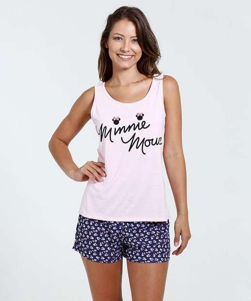Image_ Pijama Feminino Estampa Minnie Short Doll Disney