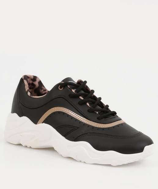 Image_Tênis Feminino Chunky Sneaker Recorte Moleca