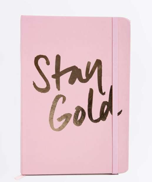 Image_Caderneta Anotações Stay Gold Estampada Marisa