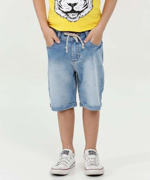 9758fa0b8 Bermuda Infantil Jeans Barra Dobrada Marisa