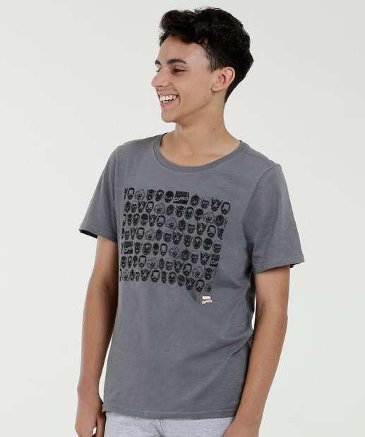 Image_Camiseta Juvenil Estampa Heróis Manga Curta Marvel