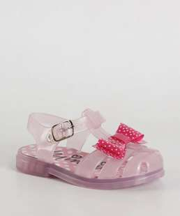 Sandália Infantil Laço Minnie Disney 9a9da820b521b