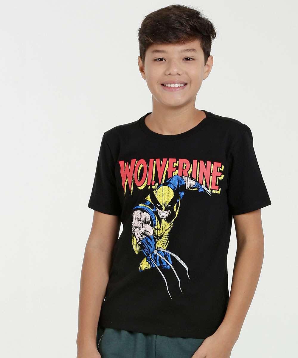 5db11d1cce Menor preço em Camiseta Juvenil Estampa Wolverine Manga Curta Marvel