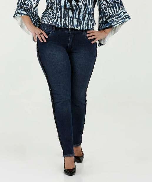 Image_Calça Feminina Jeans Skinny Paetês Plus Size Razon