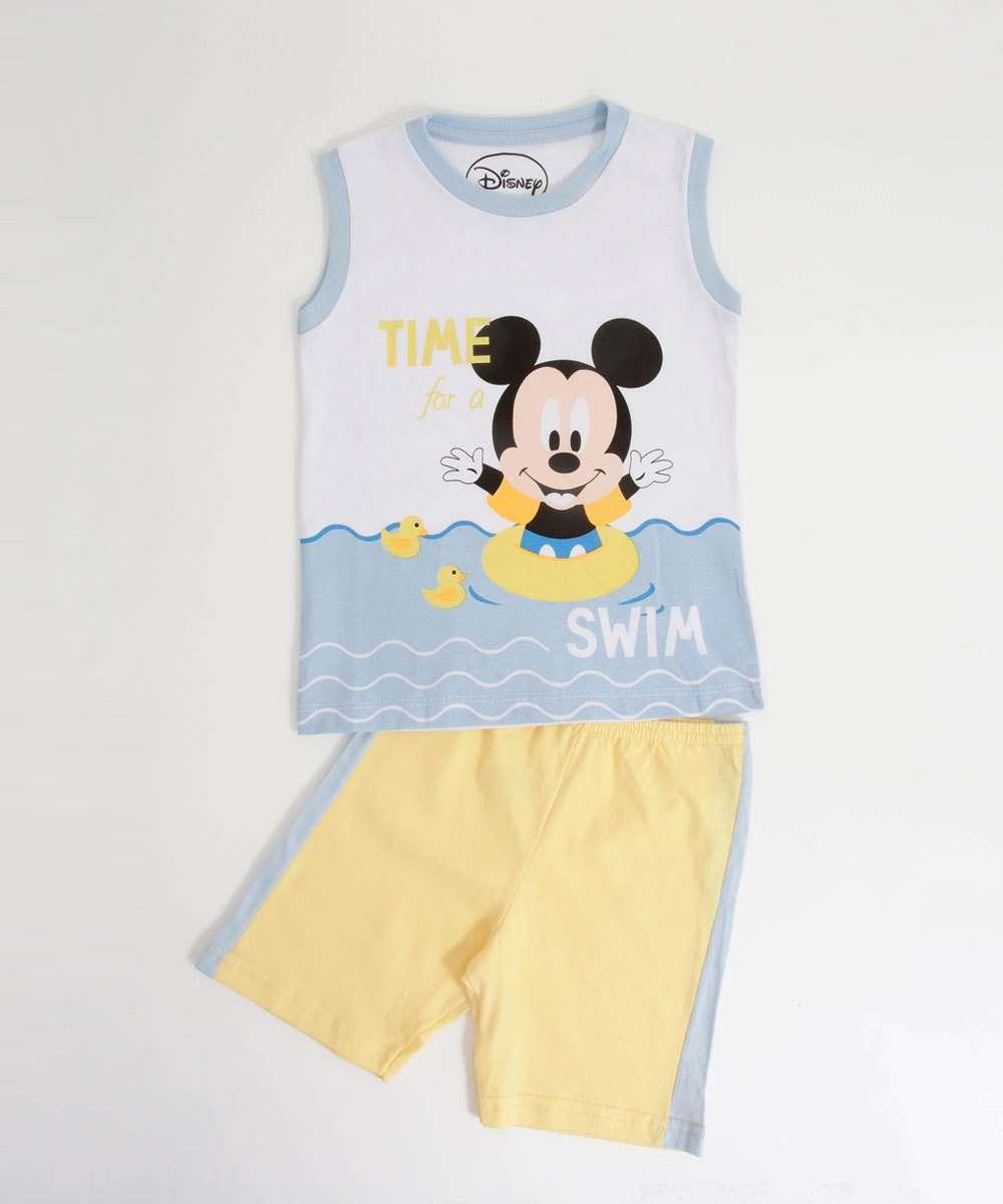 Pijama Infantil Mickey Sem Manga Disney