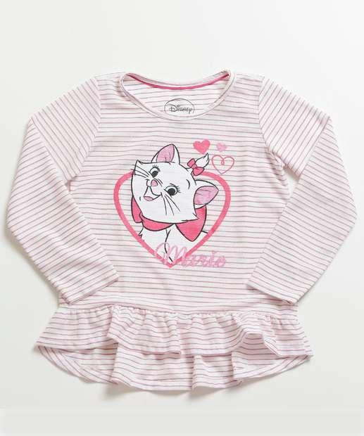 Image_Blusa Infantil Listrada Marie Manga Longa Disney