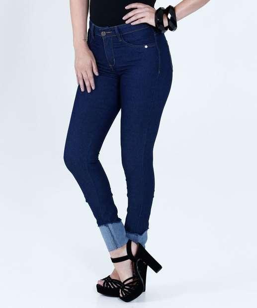 Image_Calça Feminina Jeans Cigarrete Stretch Mix Jeans