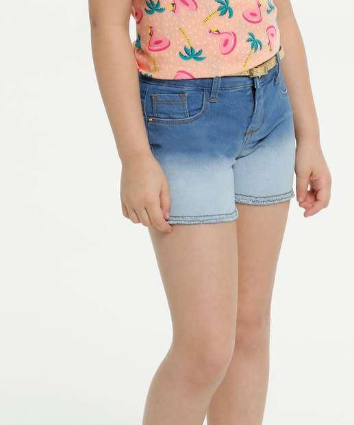 Image_Short Infantil Jeans Degradê Barra Desfiada Marisa
