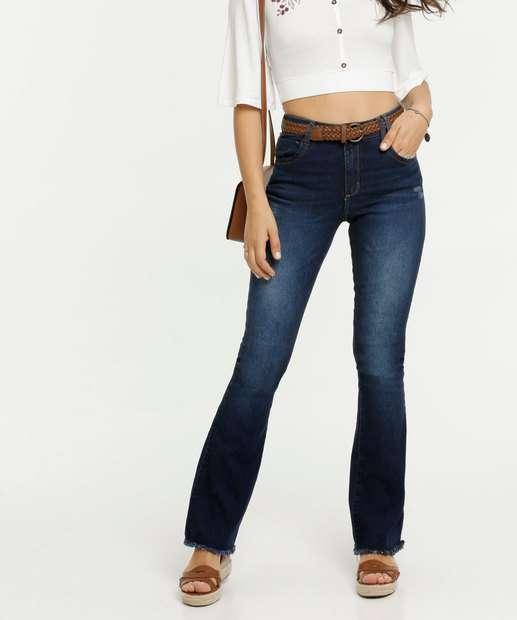 Image_Calça Flare Puídos Feminina Zune Jeans By Sabrina Sato