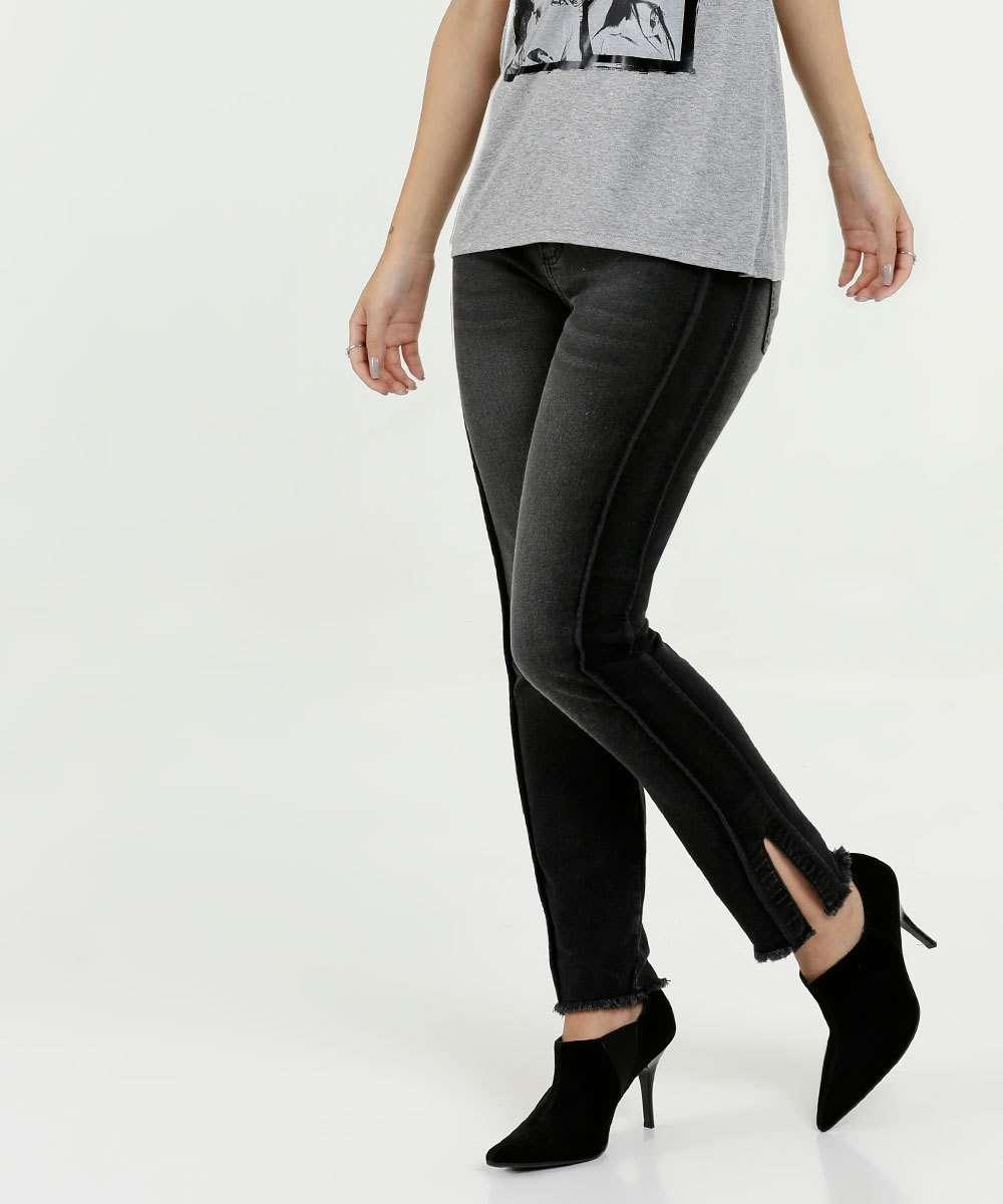 c9b68aaec Calça feminina jeans skinny stretch Marisa | Menor preço com cupom