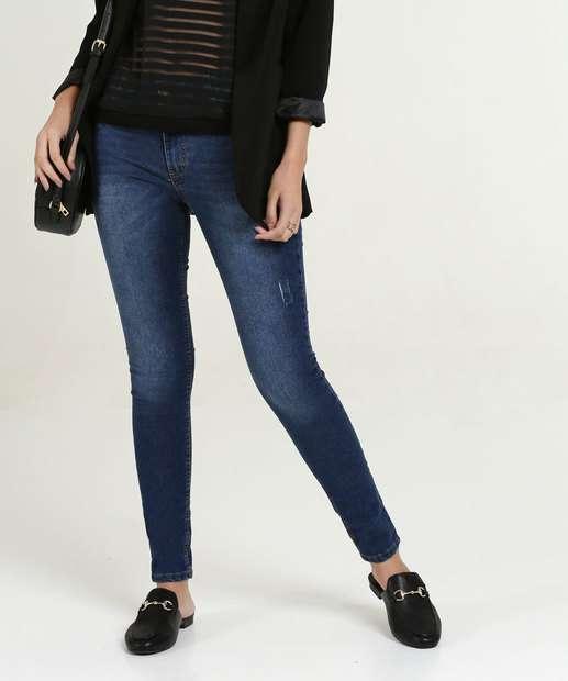 a00474bcb5 Calça Feminina Jeans Puídos Cigarrete Biotipo
