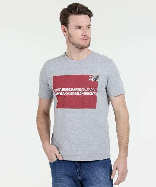 Image_Camiseta Masculina Estampa Frontal Manga Curta Marisa