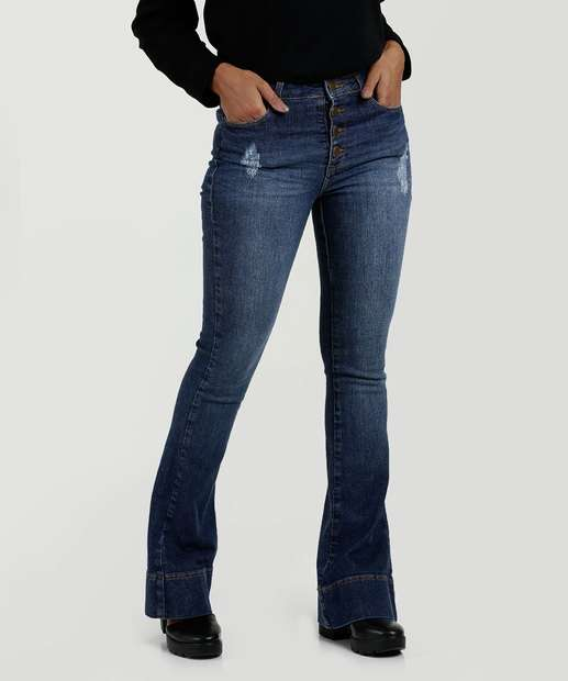 Image_Calça Feminina Jeans Flare Puídos Marisa