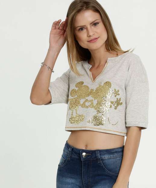 Image_Blusa Feminina Cropped Estampa Minnie Disney