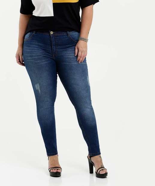 Image_Calça Feminina Jeans Cigarrete Puídos Plus Size Biotipo