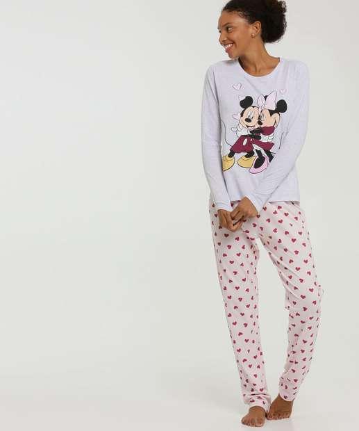 Image_Pijama Feminino Mickey E Minnie Manga Longa Disney