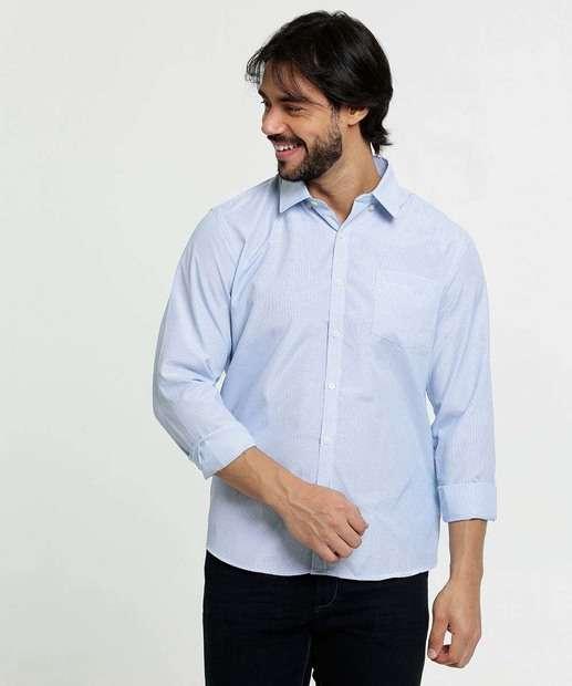Image_Camisa Masculina Listrado Manga Longa